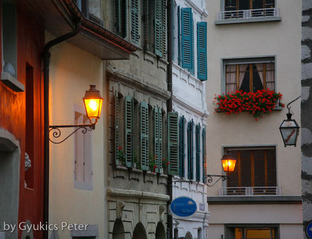 treetscape, street View,feeling,France,Annecy,postcard