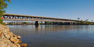 Bratislava, port bridge (highway and railway bridge)